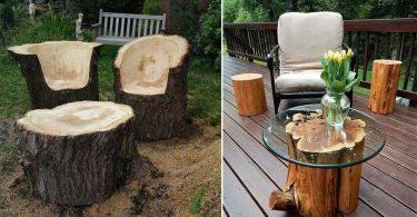 Voici 10 Idées récup d'un tronc d'arbre!