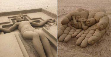 Les Sculptures De Sable Les Plus Incroyables Du Monde!!