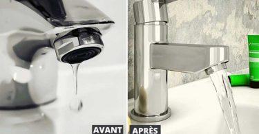 Comment améliorer la pression de l'eau dans les robinets et la douche ?