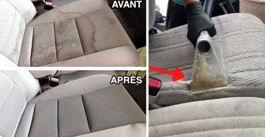 Les sièges de voiture: astuce efficace pour les nettoyer